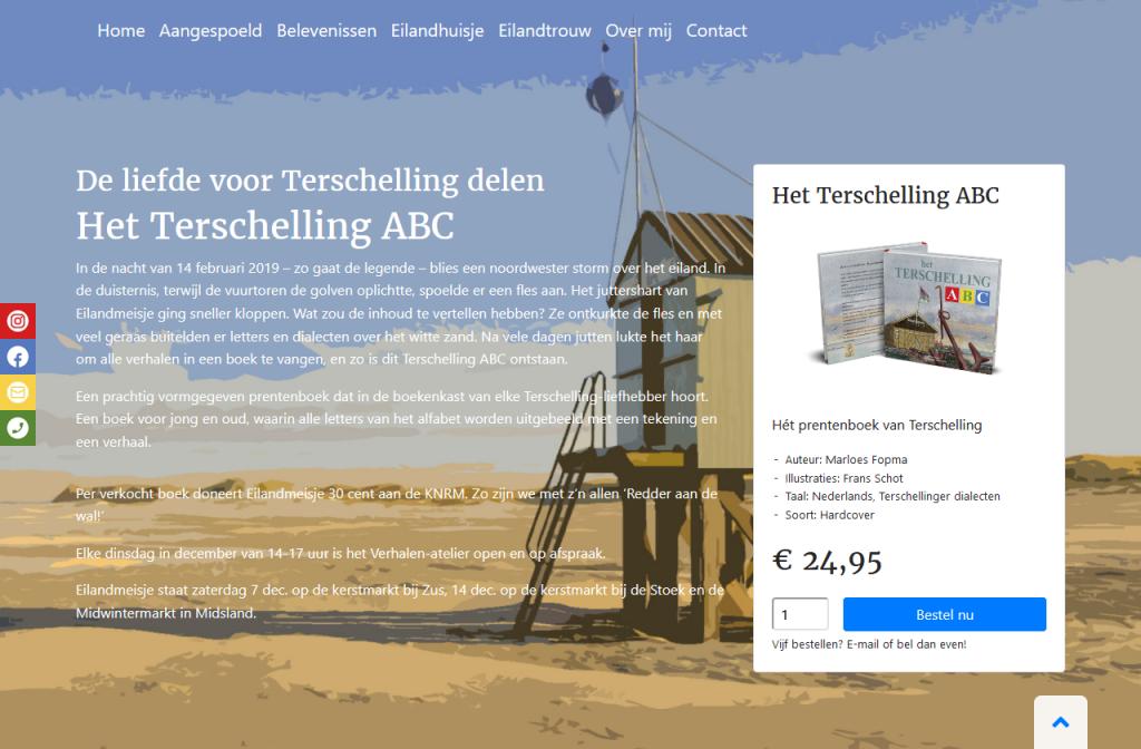 Website - Eilandmeisje